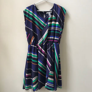 American Rag Geometric Stripe Print Dress